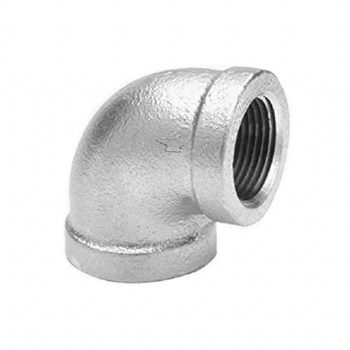 Malleable 90° Galvanised Elbow F/F